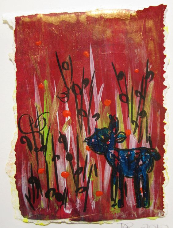 Art Card #1, Dianne Clinton 2012, mixed media on paper - sold