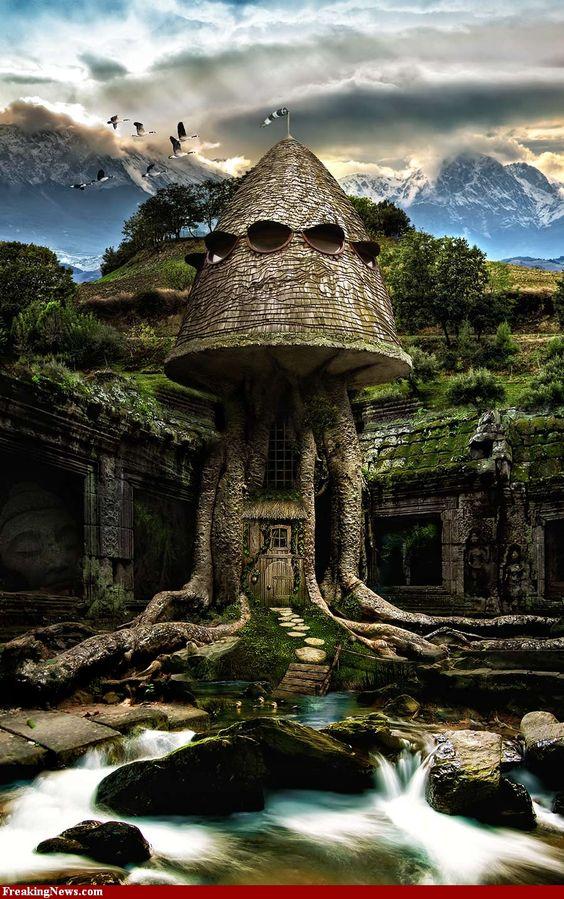 Fantastical tree house...