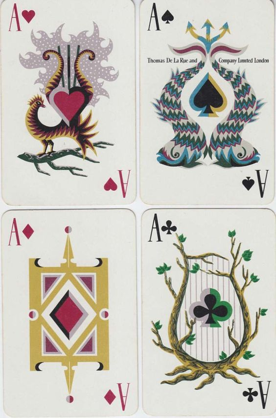 playing cards designed by Jean Picart le Doux.: