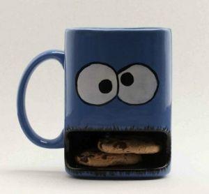 LOVE cookie monster mug by willie