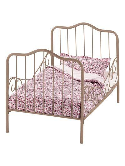 lit banquette volutif boh me en m tal ecru taupe. Black Bedroom Furniture Sets. Home Design Ideas