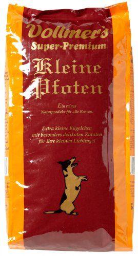 Aus der Kategorie Trockenfutter  gibt es, zum Preis von EUR 22,04  Vollmer's Kleine Pfoten ist eine ausgewogene Vollnahrung speziell für kleine und mittelgroße Hunderassen. Die kleinere Bröckchengröße ist den Verzehrgewohnheiten kleiner Hunde angepasst. Kl...