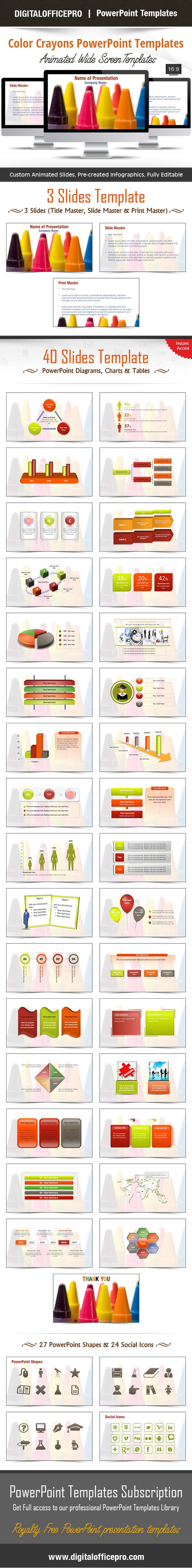 Color crayons powerpoint template backgrounds color crayons and color crayons powerpoint template backgrounds color crayons and template toneelgroepblik Choice Image