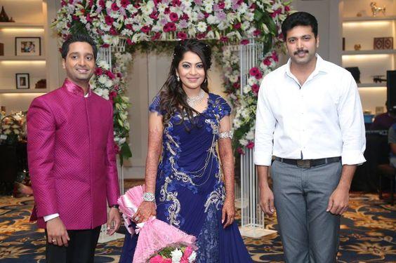 Jayam Ravi At Vj Ramya Wedding Reception