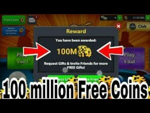 8 Ball Pool 100 Million Free Coins In Miniclip 8 Ball Pool No