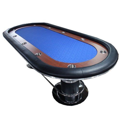 Ids Poker Knight 70 Poker Table 96 X 43 Inch Racetrack Cup Holders Blue Speed Cloth Stainless Pedestal Base In 2020 Poker Table Cup Holder Poker Table Top