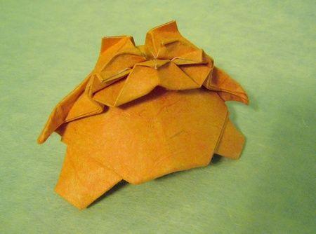 Origami Cat - tubby by Yoshihisha Kimura folded by Gilad Aharoni