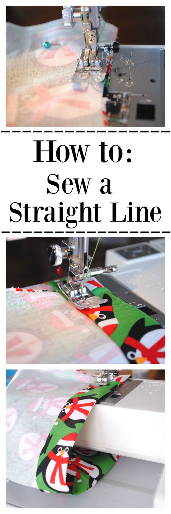 Straight Line Art Tutorial : Learn to sew series lesson how a straight line