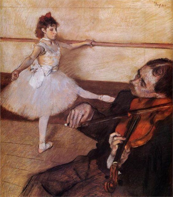 Edgar Degas -The Dance Lesson- WikiPaintings.org