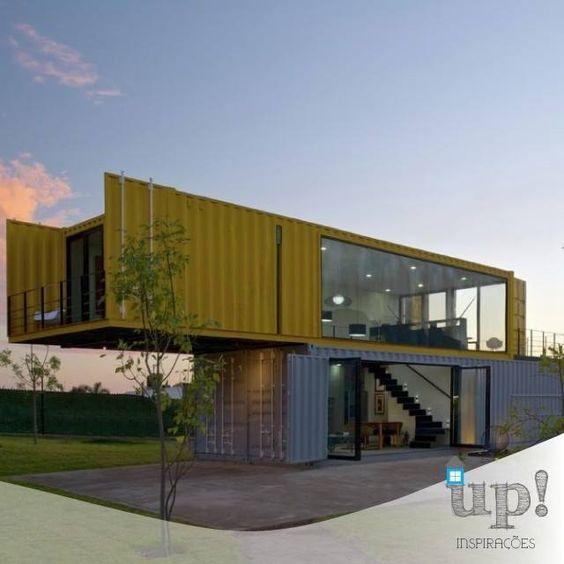 Essa casa containers diferente e ousada. by casa.container http://ift.tt/1TYO5uW