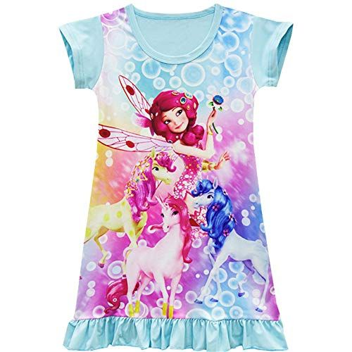 AOVCLKID Vampirina Nightgown Girls Cartoon Printed Pajamas Dress