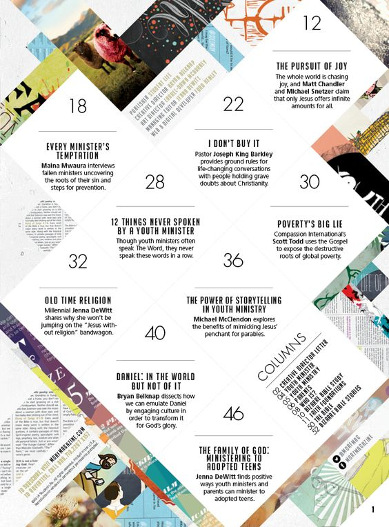 Really cool design for a table of contents i don 39 t want for Text table design