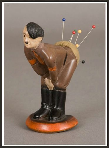 Hitler pin cushions were very popular during the war