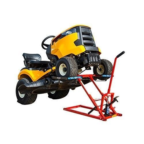 Lawn Mower Lift Riding Tractor Mowing Jack Hydraulic Atv Quad Safety Lock Garage Lawnmowerlift