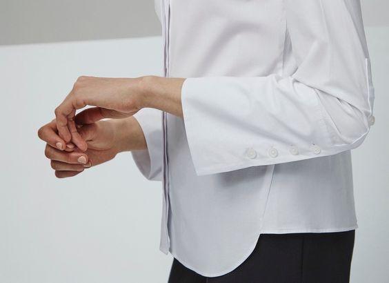 Camisa blanca de popelín - Camisas y blusas | Adolfo Dominguez shop online