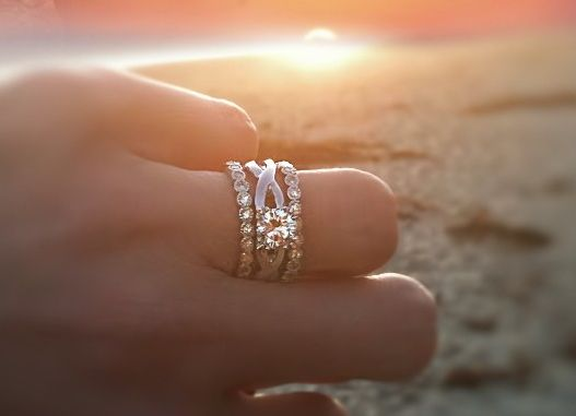 Three rings Rings and Wedding set on Pinterest