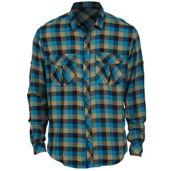Camisa Reserva Lenhador Alheta ML Azul Caribe @ Quero Bazar