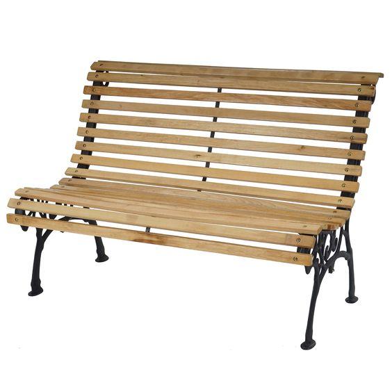 Gartenbank 2-Sitzer, weiß aus Holz Natural Ideas GmbH ...
