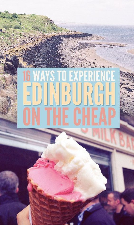 16 Ways To Experience Edinburgh On The Cheap Save money on travel, traveling, #travel #SaveMoney