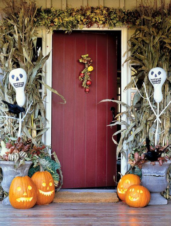 halloween deko eingang dekorieren schöne ideen                                                                                                                                                      Mehr