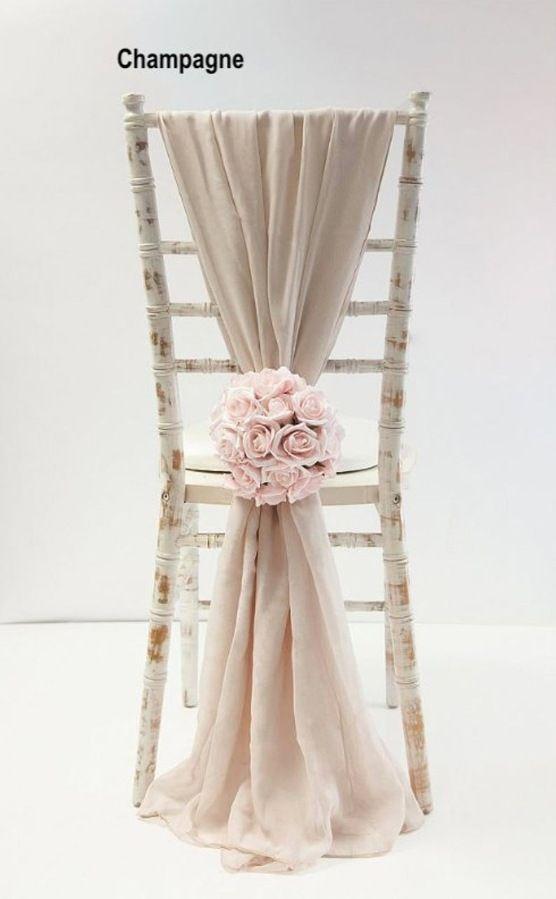 50 Chair Sashes Wedding Decor Wedding Chair Covers Chair Sash