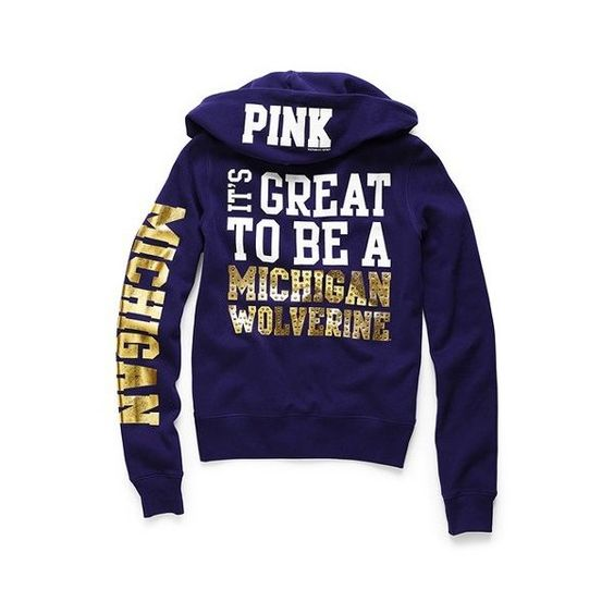 University of Michigan Bling Zip Hoodie.....since when do they have U of M clothes??? Jerks!!!