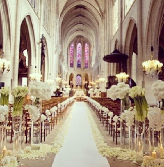 Church, Wedding Church And Dekoration On Pinterest