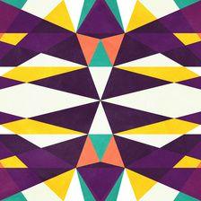 Abstract Digital Geometric Pattern