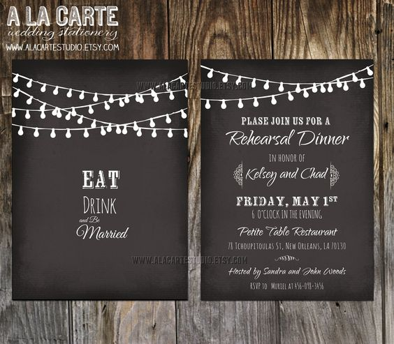 Wedding Rehearsal Dinner Invitations Templates Mr and Mrs, Not - dinner invitations templates