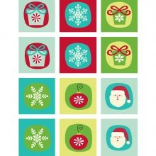 Free Christmas printable - could print on A4 sticky labels?