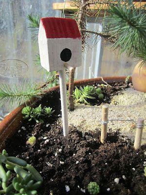 Mis manualidades y aficciones casita de jardin para for Jardines en miniatura