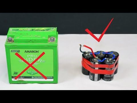 Replacing Bike Battery With Capacitor Ii Lifetime Battery Ii Youtube Capacitor Battery Capacitors