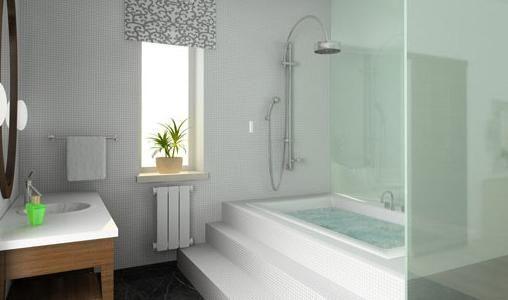 Sleek Modern Shower Tub Combo Bathrooms Pinterest
