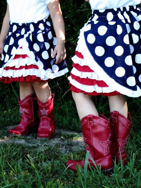 4th of July Ruffle Skirt Directions Attached from Sew Mama Sew