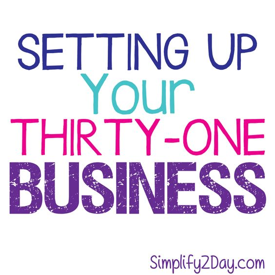 Setting Up Your Thirty-One Business