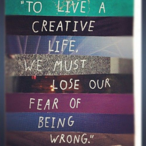 To live a creative life. #spsf