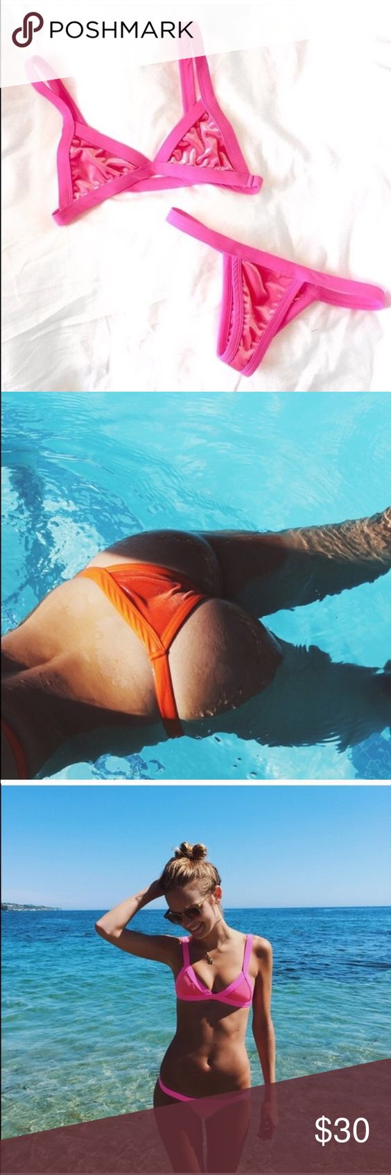 KAOHS Swim Cindy bottom in Pink! NWT! Super cute! Brand new velvet bottoms! KAOHS Swim