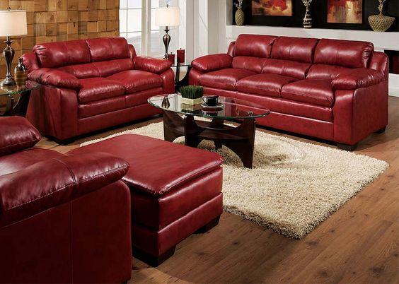sofá burdeos de piel