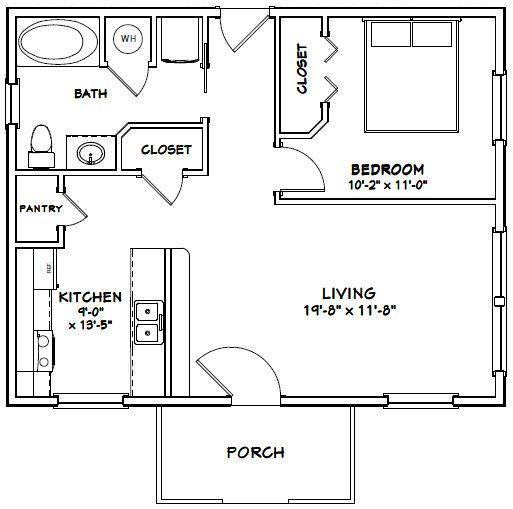 30x24 House 30x24h3a 720 Sq Ft Excellent Floor Plans Tiny House Floor Plans Tiny House Plans Floor Plans