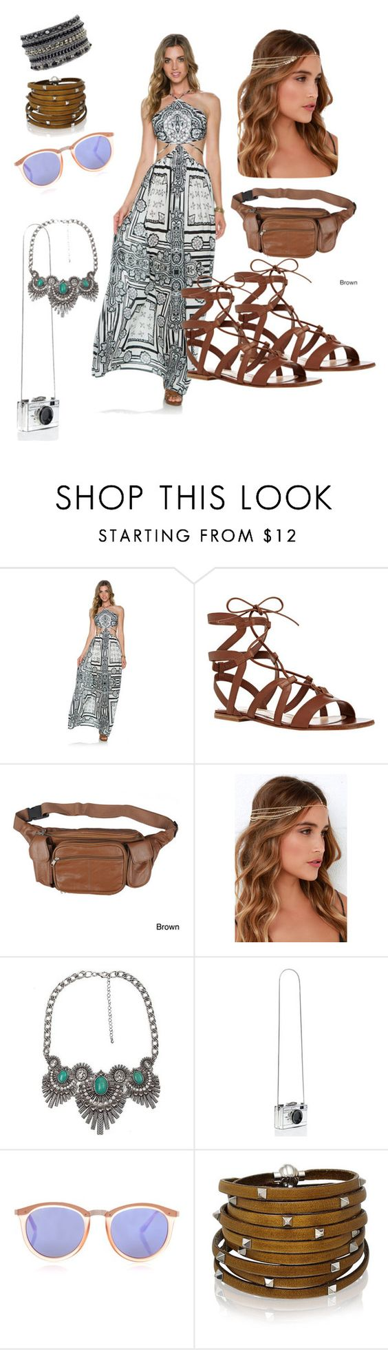 """""""Cochella #2"""" by naylapramita ❤ liked on Polyvore featuring Gianvito Rossi, Journee Collection, LULUS, BKE, Kate Spade, Le Specs and Sif Jakobs Jewellery"""