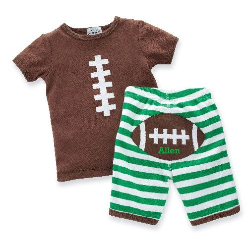 Personalized Football Outfit by RusticHeartOnline on Etsy