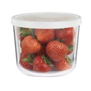"Gift Idea: Italian-Glass Round Food-Storage Container, 14 1/4"" oz."
