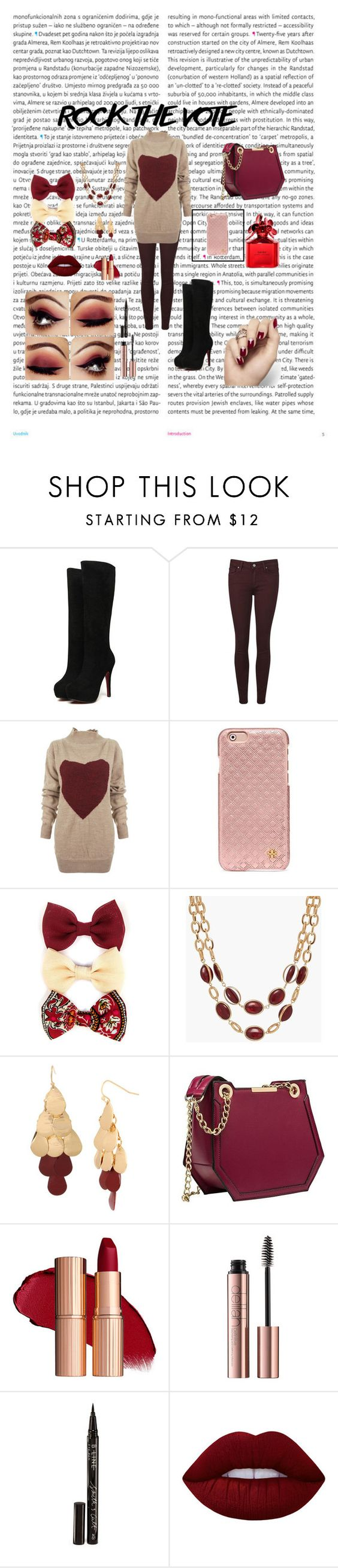 """""""Rock the Vote 🇺🇸"""" by sbanean ❤ liked on Polyvore featuring Oris, Paige Denim, Vivienne Westwood Anglomania, Tory Burch, Carole, Talbots, Boutique+, Smith & Cult, Lime Crime and Marc Jacobs"""