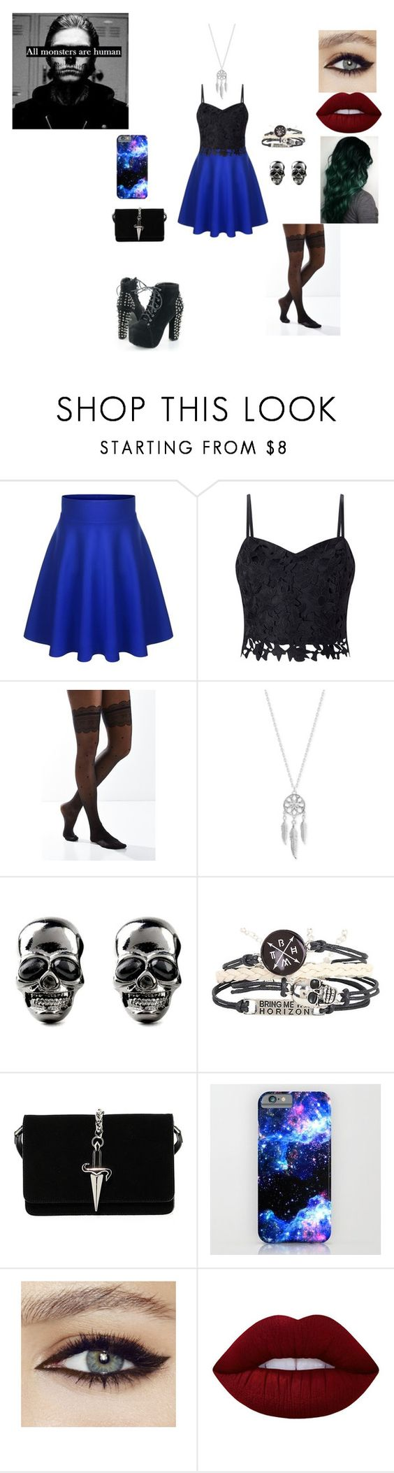 """""""Murder House"""" by pandababy-1 ❤ liked on Polyvore featuring Lipsy, Urban Outfitters, Lucky Brand, Cesare Paciotti, Lime Crime, americanhorrorstory, ahs, tatelangdon and murderhouse"""