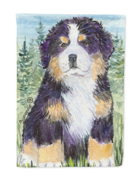 Bernese Mountain Dog Flag Garden Size