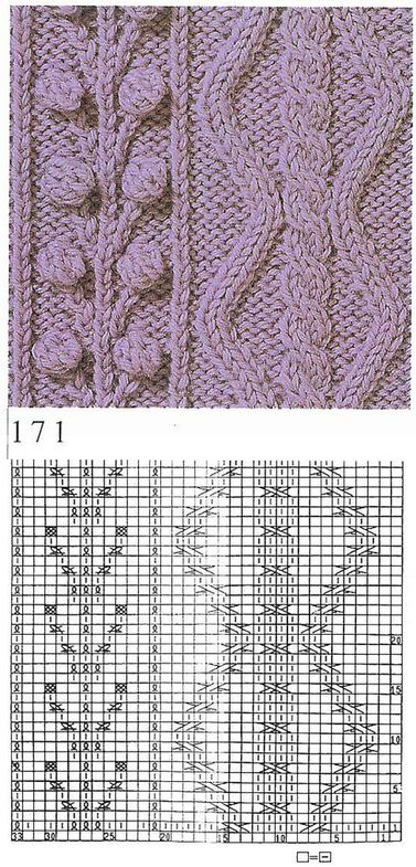 nice beautiful knitting stitch pattern lace aran ???????? ????? ?? ?????? cli...