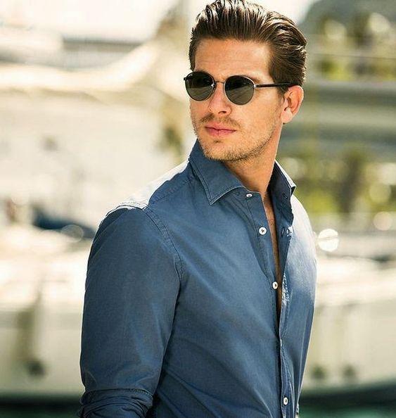 Macho Moda - Blog de Moda Masculina: Os Óculos Masculinos em alta pra 2015! óculos masculino, óculos escuro, óculos de sol, moda masculina, moda para homens, óculos redondo, round frame, camisa jeans