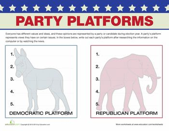 Printables Political Parties Worksheet pinterest the worlds catalog of ideas worksheets political party platforms