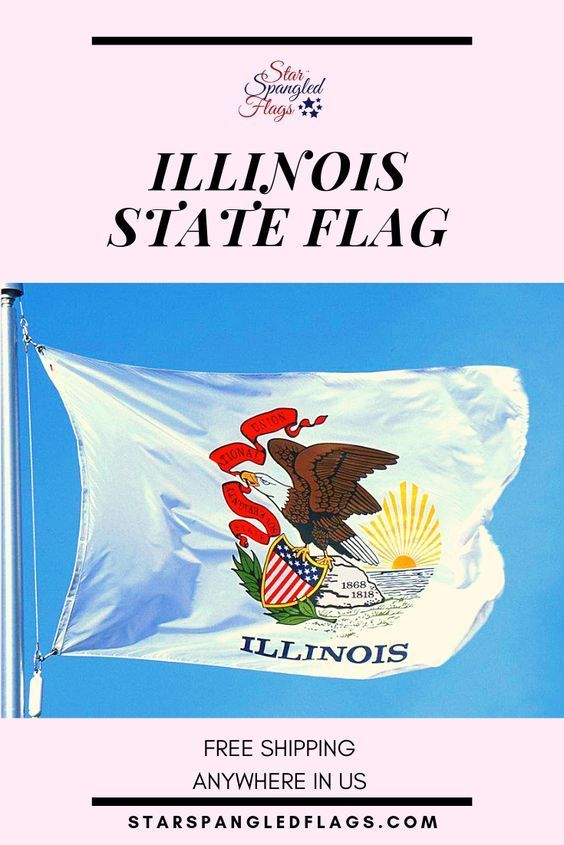 Illinois State Flag For Sale From Star Spangled Flags In 2020 State Flags Illinois State Historical Flags