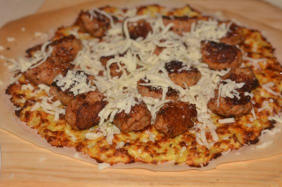 Cauliflower Pizza With Sausage & Kale Chips - Hugs and Cookies XOXO